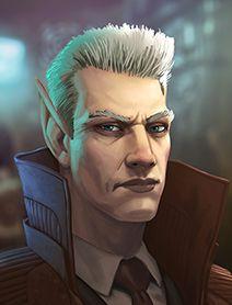 male elf detective; shadowrun