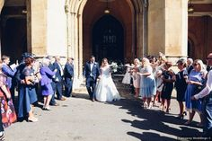 Confetti wedding exit, see more exit ideas on WeddingWire!