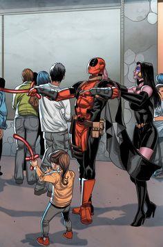 #Deadpool #Fan #Art. (Deadpool Vol.3 #40 Cover) By: Scott Koblish. ÅWESOMENESS!!!™ ÅÅÅ+