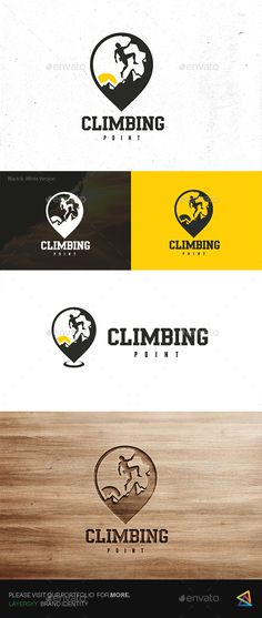 Climbing Point Logo — Transparent PNG #people #sport • Available here → https://graphicriver.net/item/climbing-point-logo/17522295?ref=pxcr