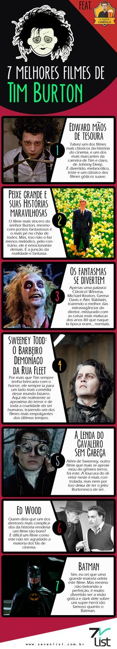 #Sevenlist #IdiotaCinéfilo #Cinéfilo #Cinema #Filmes #Cine #TimBurton…