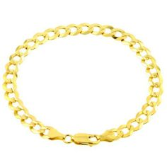 """10k Yellow Gold 9.6mm Cuban Bracelet, 8.5"""" Amazon Curated Collection. $859.00. Made in us. Save 58% Off!"""