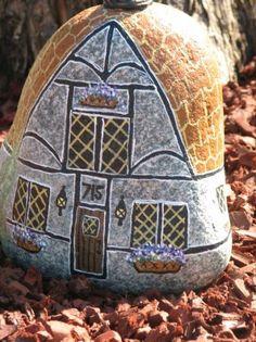 painted rock house | rocks | Pinterest