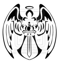 Angel tribal design by Finaira.deviantart.com