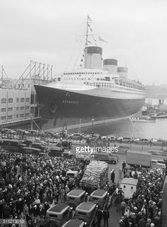 "A sight we will never again see- the magnificent French Liner ""Normandie"" at New York (1935)"