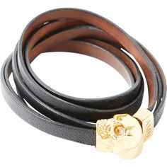 Pre-owned Alexander Mcqueen Leather Bracelet (208 690 LBP) ❤ liked on Polyvore featuring jewelry, bracelets, black, alexander mcqueen, leather bangles, preowned jewelry, leather jewelry and alexander mcqueen jewelry