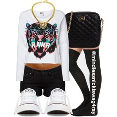 Tiger Rawr., created by mindlessnickiswag4ray on Polyvore