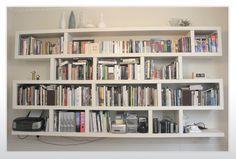 Wall Mounted Bookshelves Designs:white-wall-mounted-bookshelves