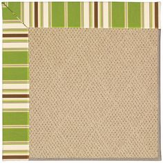 Capel Zoe Machine Tufted Green/Brown Area Rug Rug Size: 8' x 10'