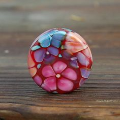Romance+In+The+Garden++K+O+Lampwork++1+Floral+Focal+by+koregon,+$22.00