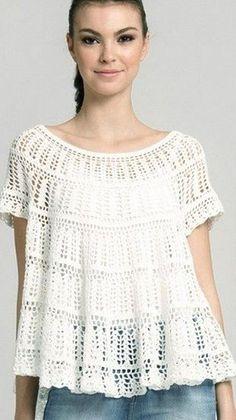 Top tunica crochet