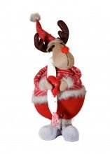 Lincon wear his heart on his sleeve for all the world to see. Lincon is a reindeer any special person in your life would love either as a christmas gifts, valentine present or that special birthday gift. Lincon say's what you may have trouble saying, so let him speak his love for you!!60cm in height  with his hat standing tall. $69