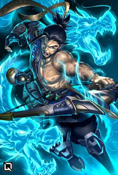 Good afternoon continuing some more badass Artwork by Drake Tusi here is Hanzo from Blizzards game Overwatch, if you've ever played Team Fortress 2 it's very similar to that! - - Artwork by Drake Tusi - - ______________________________________ Overwatch Hanzo, Overwatch Comic, Overwatch Memes, Overwatch Fan Art, Overwatch Posters, Anime Yugioh, Anime Pokemon, Anime Plus, Anime W