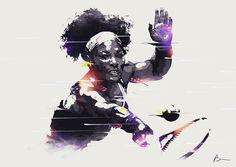 Serena Williams Illustration by Bram Vanhaeren