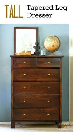 Make your own PB knock-off, tall #dresser! Step by step tutorial with #buildingplans. #diyprojects #diyideas #diyinspiration #diycrafts #diytutorial