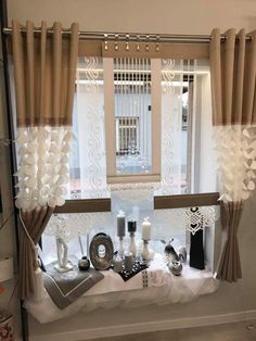 Panel z ażurem - Fancy Curtains, Modern Curtains, Curtains With Blinds, Valance Curtains, Window Coverings, Window Treatments, Curtain Designs For Bedroom, Home Hacks, Decoration