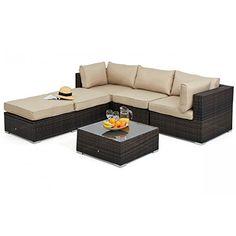 san diego rattan garden furniture brazil brown corner group sofa set