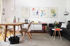Tour this beautiful small apartment with a Scandinavian inspired interior with us!