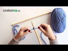Cómo montar puntos con dos agujas - costurea - YouTube
