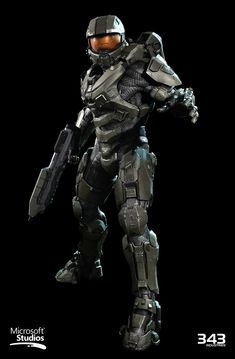 Halo Master Chief Textures and materials by Kyle Hefley Hi-Res Techsuit by Sean Binder Hi-Res Armor and AR by Dan Sarkar Low Poly by Matt Aldridge Master Chief Armor, Halo Master Chief, Hack And Slash, Halo Reach, Halo Tattoo, Best Wallpapers Android, Halo Spartan, Halo Armor, New Halo