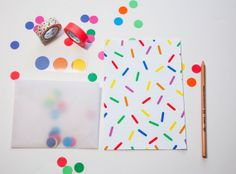 Party Time Letter Set Confetti by Natsumishop on Etsy, $18.00