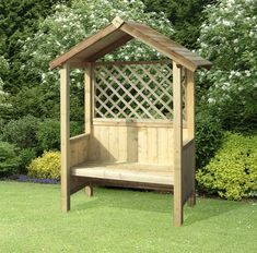 Artemis Timber Fixed Seat Garden Arbour with Trellis This product is manufactured from fully pressure treated timber and distributed by an FSC certified company.