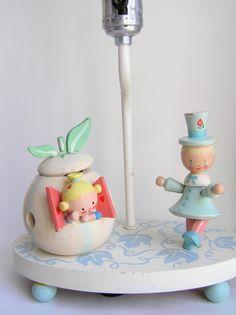 Sweet Vintage Irmi Nursery Lamp And Nightlight By Sweetlilystudio 45 00 Flea Market Finds