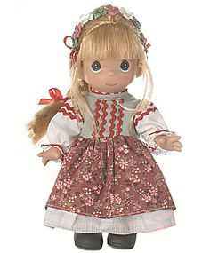 This is our Item PMC0851, the 9 In. Precious Moments Children of the World doll Pelagia of Poland. She has just been added to our Tias site, http://www.donnaskorner.com