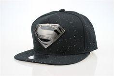 black grey blue punk hat women's baseball cap superman with metal S for men women casual hip hop hats