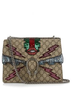 Dionysus GG Supreme appliqué shoulder bag | Gucci | MATCHESFASHION.COM