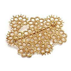 Brigitte Adolph - Gold pansy brooch