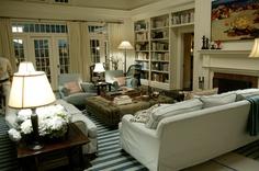 """Something's Gotta Give"" living room."