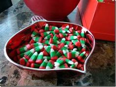 Christmas colored candy corn!!!!