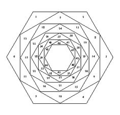 Hexagon iris folding template