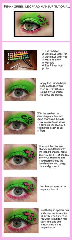 Leopard Makeup Tutorial. by ~KatherineDavis on deviantART