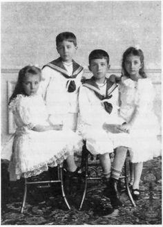 The children of Tsar Ferdinand of Bulgaria.