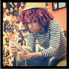 Short red locs and style that goes long!
