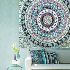 hanging beach towel. Mandala Blanket Beach Towel Tapestry Bohemian Round Rug | Indian Ethnic Home Decor Pinterest Blanket, Rugs And Hanging