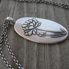 Bloom Where You're Planted Pendant PMC Artisan by westbyron