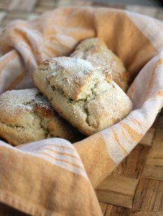 Marizpan Scones--lovely fragrant scones that hide chunks of marizpan inside.