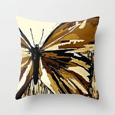 Autumn Butterfly Throw Pillow by Saundra Myles - $20.00