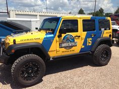 ANCIRA Jeep tricked out a Jeep for Jurassic World :) Thanks TNJ graphics and Xtreme Outfitters
