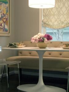 Banquette - love how it looks like a couch!