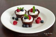 Paleo Berry Chocolate Cream Cups