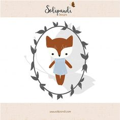 Little Fox  SVG Cut Files  for Vinyl Cutters by SolipandiDesigns