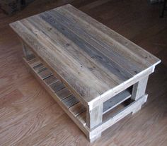 Reclaimed Plank Top Coffee Table. shipping by KyRusticFurniture
