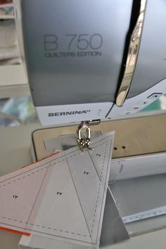 This simple paper piecing tip will help keep you from ripping stitches while adding pieces to your pattern - a real time saver!