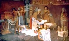 Mummification by Harvey Spencer Lewis - American , 1883 - 1939  Egypt - Old Cairo Paintings