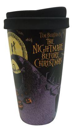 Disney The Nightmare Before Christmas Ceramic Tumbler Double Wall Travel Mug