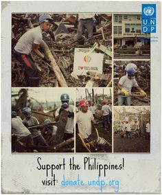 Support UNDP's work in the Philippines!  $100 provides reconstruction and clearance work to a typhoon affected person for approximately three weeks